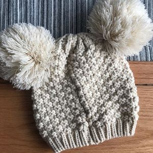 Accessories - Knit, double puff winter hat 🖤